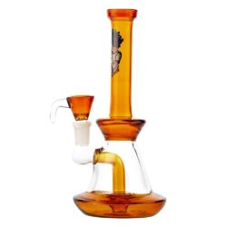 Skleněný bong s perkolací Amsterdam SB orange, 22cm(HG15U)