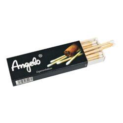 Zápalky doutníkové Angelo, Free-Doutníkové zápalky Angelo. Speciální dlouhé zápalky určené na zapalování doutníků. Krabička 18 ks zápalek. Délka 10 cm.