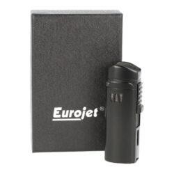 Doutníkový zapalovač Eurojet Alborg 3xjet, černý(221008)