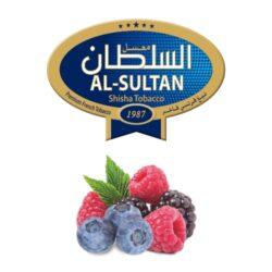 Tabák do vodní dýmky Al-Sultan Berry Land (7), 50g/F-Tabák do vodní dýmky Al-Sultan Berry Land s příchutí lesního ovoce. Tabáky Al-Sultan vyráběné v Jordánsku jsou známé svojí šťavnatostí, skvělou vůní, chutí a bohatým dýmem. Tabák do vodní dýmky je dodávaný v papírové krabičce po 50g.