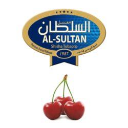 Tabák do vodní dýmky Al-Sultan Cherry (14), 50g/F-Tabák do vodní dýmky Al-Sultan Cherry s příchutí třešní. Tabáky Al-Sultan vyráběné v Jordánsku jsou známé svojí šťavnatostí, skvělou vůní, chutí a bohatým dýmem. Tabák do vodní dýmky je dodávaný v papírové krabičce po 50g.