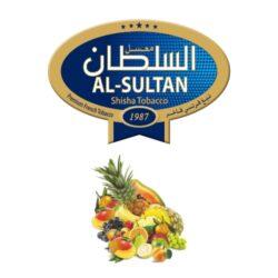 Tabák do vodní dýmky Al-Sultan Coctail (64), 50g/F-Tabák do vodní dýmky Al-Sultan Coctail s příchutí ovocného koktejlu. Tabáky Al-Sultan vyráběné v Jordánsku jsou známé svojí šťavnatostí, skvělou vůní, chutí a bohatým dýmem. Tabák do vodní dýmky je dodávaný v papírové krabičce po 50g.