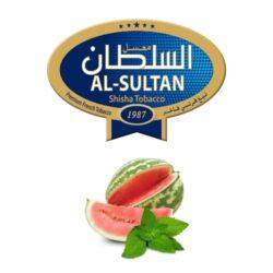 Tabák do vodní dýmky Al-Sultan Watermelon+Mint (84), 50g/F-Tabák do vodní dýmky Al-Sultan Watermelon+Mint s příchutí melounu a máty. Tabáky Al-Sultan vyráběné v Jordánsku jsou známé svojí šťavnatostí, skvělou vůní, chutí a bohatým dýmem. Tabák do vodní dýmky je dodávaný v papírové krabičce po 50g.