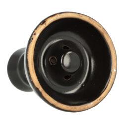 Náhradní korunka pro vodní dýmku, keramická, černá, 23mm(30806)