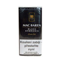Dýmkový tabák Mac Baren Black Ambrosia, 50g/F-Dýmkový tabák Mac Baren Black Ambrosia. Směs dvakrát fermentovaného virginského a Burley tabáků se střední sílou a velmi výrazným aroma. Balení pouch 50g.
