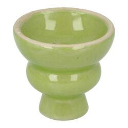 Náhradní korunka pro vodní dýmku, keramická, zelená, 19mm-Náhradní keramická korunka na vodní dýmky v zelené barvě. Univerzální korunka klasického typu vhodná pro širokou škálu vodních dýmek je vybavená prohnutým dnem s pěti otvory. Korunka pro vodní dýmku má leskle glazovaný povrch, díky kterému je čištění korunky snadnější.  Rozměry korunky: Výška: 5,3 cm Horní průměr: 5,7 cm Spodní vnitřní průměr pro nasazení: 1,9 cm