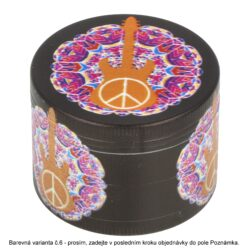 Drtič tabáku kovový Peace, 50mm(31262)