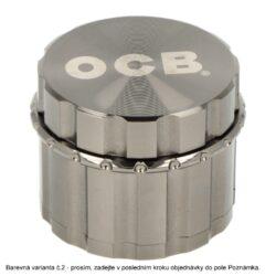 Drtič tabáku kovový OCB black & anthracite, 4.díl., 50mm(205598)