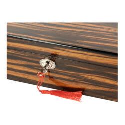 Humidor na doutníky Macassar 30D leštěný, 29x22x9cm(29101)
