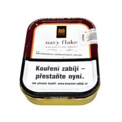 Dýmkový tabák Mac Baren Navy Flake, 50g-Velmi kvalitní a oblíbený dýmkový tabák Mac Baren Navy Flake. Dýmková směs výborné kvality a chutě z tabáků Burley, Cavendish a Virginie. Plechová krabička 50g.