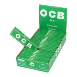 Cigaretové papírky OCB 8-Cigaretové papírky OCB 8. Knížečka obsahuje 50ks papírků se seříznutými rohy. Rozměry papírku: 36x69mm. Prodej pouze po celém balení (displej) 50ks.