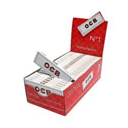 Cigaretové papírky OCB 1-Cigaretové papírky OCB 1. Knížečka obsahuje 50ks cigaretových papírků. Rozměry papírku: 36x69mm. Prodej pouze po celém balení (displej) 50ks.