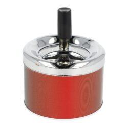 Cigaretový popelník otočný kovový, malý-Cigaretový popelník otočný. Samozhášecí popelník na cigarety je kovový, průměr 7,5 - 9cm.