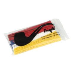 Čističe dýmek Angelo barevné, 15cm, 100ks-Dýmkové čističe barevné. Čističe jsou dlouhé 15 cm. Čističe dýmek jsou balené po 100 ks.