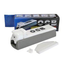 Plnička dutinek OCB, ruční-Plastová plnička cigaretových dutinek OCB (plnička cigaret). Cigaretová plnička obsahuje v balení nacpávač a náhradní hrot.