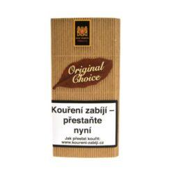 Dýmkový tabák Mac Baren Original Choice, 40g-Dýmkový tabák Mac Baren Original Choice. Směs je namíchána z jemného Burley, virginského tabáku s jemnou a čistou přírodní chutí. Tato dýmková směs je vhodná pro začínající a mladé kuřáky. Balení pouch 40g.