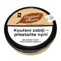 Dýmkový tabák Mac Baren Original Choice, 100g-Velmi kvalitní a oblíbený dýmkový tabák Mac Baren. Směs je namíchána z jemného Burley, virginského tabáku s jemnou a čistou přírodní chutí. Tato směs je vhodná pro začínající a mladé kuřáky. Balení plechová krabička 100g.