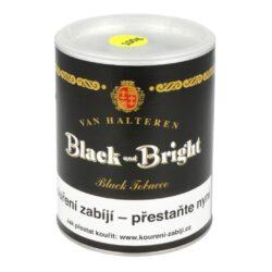 Dýmkový tabák Black and Bright, 100g-Dýmkový tabák Black and Bright. Slabší tabáková směs světlého a tmavého virginského tabáku z Ameriky a střední Afriky okořeněná výrazným tabákem orientálním. Díky dvojité fermentaci je tato aromatizovaná směs stále plná výborné vůně a chuti. Tabák je aromatizován vanilkou a přírodními látkami. Balení plechová dóza 100g.