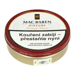 Dýmkový tabák Mac Baren Mixture, 100g-Dýmkový tabák Mac Baren Mixture. Vyvážená směs tabáku Burley, Virginie a Cavendishe s lehkým příjemným aroma. Balení plechová krabička 100g.
