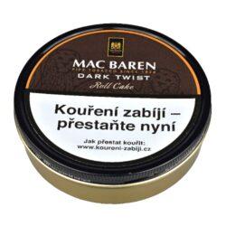 Dýmkový tabák Mac Baren Dark Twist, 100g-Velmi kvalitní a oblíbený dýmkový tabák Mac Baren Dark Twist. Výborná jemná směs s mírnou přírodní vůní je velmi lahodně namíchaná z kořeněného Cavendishe a tabáku virginského. Jemná, ale současně plná chuť této dýmkové směsi jistě potěší každého kuřáka dýmky. Balení plechová dóza 100g.