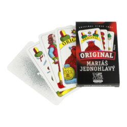 Mariášové karty jednohlavé, papírová krabička-Mariášové jednohlavé karty v papírové krabičce.