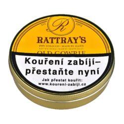 Dýmkový tabák Rattrays Old Gowrie, 50g-Dýmkový tabák Rattrays Old Gowrie. Typická směs virginských tabáků slisovaných do flaku, které jsou strojově roztrhané. Směs příjemné sladké chuti a plná aroma virginských tabáků je vyráběna dle staré receptury, která zachovává aromatické oleje uvnitř této vynikající směsi. Balení plechová dóza 50g.