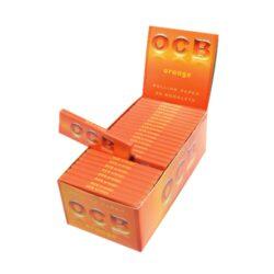 Cigaretové papírky OCB Orange-Cigaretové papírky OCB Orange. Knížečka obsahuje 50ks papírků. Rozměry papírku: 36x69mm. Prodej pouze po celém balení (displej) 50ks.