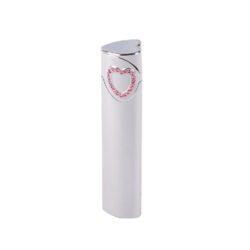 Dámský zapalovač Hadson Heart, chrom, růžové srdce, kamínky Swarovski-Plynový dámský zapalovač Hadson Heart. Kovový zapalovač ve tvaru srdce je zdobený růžovými kamínky Swarovski a jeho povrch je chromovém provedení. Po stisknutí tlačítka se odklopí kryt a zapalovač se zapálí. Ve spodní části je umístěn plynový plnící ventil a regulace intenzity plamene. Dámský zapalovač je dodávaný v dárkové krabičce. Výška zapalovače 8cm.