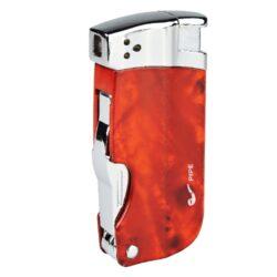 Dýmkový zapalovač Hadson Pipe Multi, hnědý-Dýmkový zapalovač Hadson s trojdílným příslušenstvím pro dýmku. Kvalitně zpracovaný kovový zapalovač pro kuřáky dýmky s bočním plamenem je v hnědém mramorovém provedení s prvky v lesklém chromu. Dýmkový zapalovač je vybaven praktickým integrovaným dýmkovým příslušenstvím, které každý kuřák dýmky každodenně potřebuje. Na spodní straně zapalovače najdeme plnící ventil a ovládání intenzity plamene. Zapalovač je dodávaný v dárkové krabičce. Výška 7,5cm.