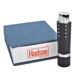 Dámský zapalovač Hadson Lipstick, černý, bílé kamínky Swarovski(10241)