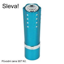 Dámský zapalovač Hadson Lipstick, modrý, bílé kamínky Swarovski(10244)