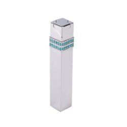 Dámský zapalovač Hadson Square, chrom, zirkony Swarovski-Plynový dámský zapalovač. Dámský zapalovač je zdoben kamínky Swarovski. Zapalovač je plnitelný.