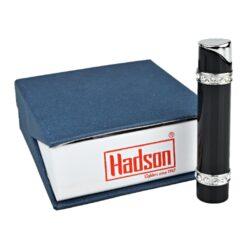 Dámský zapalovač Hadson Lady-S, černý, bílé kamínky Swarovski(10264)