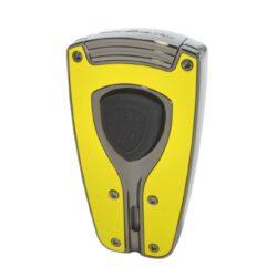 Tryskový zapalovač Lamborghini Forza, žlutý-Stylový tryskový zapalovač Tonino Lamborghini Forza. Kvalitně zpracovaný zapalovač obsahuje na spodní straně nastavení intenzity plamene a ventil pro plnění. Na přední straně najdeme okénko, kde je možné vidět hladinu plynu v zapalovači. Tryskový zapalovač je dodáván v kožené krabičce vyložené jemným sametem. Výška 7cm.