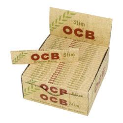Cigaretové papírky OCB Slim Organic-Cigaretové papírky OCB Slim Organic. Knížečka obsahuje 32 papírků. Papírky jsou vyrobené z ultratenkého konopného papíru. Rozměry papírku: 45x109mm. Prodej pouze po celém balení (displej) 50ks.