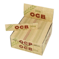 Cigaretové papírky OCB Slim Organic-Cigaretové papírky OCB Slim Organic. Knížečka obsahuje 32 papírků. Papírky jsou vyrobené z ultratenkého konopného papíru. Rozměry papírku: 44x109mm. Prodej pouze po celém balení (displej) 50ks. Cena je uvedená za 1ks.