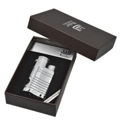 Doutníkový zapalovač Winjet Mega, stříbrný(221150)