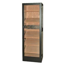 Humidor na doutníky Angelo Jason 300D, skříňový-Skříňový humidor na doutníky s prosklenými dveřmi a boky a šesti úložnými plochami a kapacitou cca 300 až 400 doutníků. Dodáván s plně automatický zvlhčovačem Cigar Oasis II XL. Vnitřek humidoru je vyložený cedrovým dřevem. Rozměr: 172x41x55 cm.