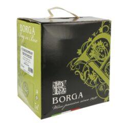 Víno Borga Chardonnay IGT 5l 12%, bílé, Bag in box-Italské víno Borga Chardonnay IGT. Bílé víno suché charakterizuje světle žlutá slámová barva, ovocná vůně se zlatými, jemnými jablkovými tóny. Na patře vyvolává pocit kůrky čerstvého chleba. Balení: Bag in box, 5L.  Obsah alkoholu: 12% Výrobce: Azienda Vitivinicola di Borga G.& C. Vinařská oblast: Treviso, Itálie