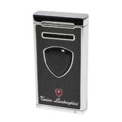 Doutníkový zapalovač Lamborghini Pergusa, karbon-Doutníkový zapalovač. Tryskový zapalovač Pergusa Tonino Lamborghini na zapalování doutníků. Zapalovač obsahuje integrovaný vyštípávač a je plnitelný. Výška 7cm. Doutníkový zapalovač je dodáván v dárkové krabičce.