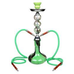 Vodní dýmka Waterpipe 52cm zelená-Vodní dýmka Waterpipe. Střední vodní dýmka vysoká 52cm má dva šlauchy. Barva vodní dýmky zelená. Vodní dýmka je dodávána s příslušenstvím.