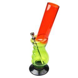 Bong akryl (plast) 32cm, zalomený-Akrylový (plastový) bong zalomený. Bong je dostupný ve více barvách. Cena je uvedena za 1 ks. Před odesláním objednávky uveďte číslo barevného provedení do poznámky. Výška: 32 cm Průměr: 5 cm Materiál: akryl