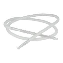 Náhradní hadice (šlauch) pro vodní dýmku, 1,7m-Náhradní plastová hadice (šlauch) pro vodní dýmky. Transparentní plastový šlauch je vcelku včetně hnědého náustku a adaptéru pro připojení do vodní dýmky. Vnější minimální průměr zasouvací kónické části do vodní dýmky je 1,1cm. Hadice je vyrobena z PVC, náustek a adaptér je z tvrzeného plastu. Údržba je velmi jednoduchá, ke zbavení nečistot stačí propláchnutí obyčejnou vodou.  Celková délka hadice včetně adaptéru a náustku: 1,7m Délka samotné hadice: 1,35 m