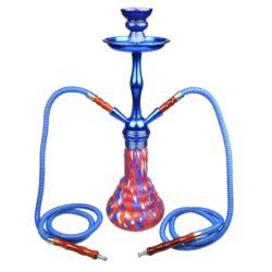 Vodní dýmka Luxury 48cm modročervená-Vodní dýmka Luxury. Střední vodní dýmka vysoká 48cm má dva šlauchy. Barva vodní dýmky modročervená. Vodní dýmka je dodávána s příslušenstvím.