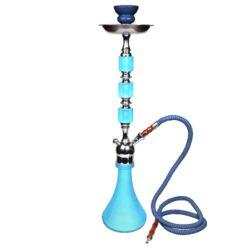 Vodní dýmka Neon 63cm modrá-Vodní dýmka Neon. Velká vodní dýmka vysoká 63cm má jeden šlauch. Barva vodní dýmky modrá. Vodní dýmka je dodávána s příslušenstvím.
