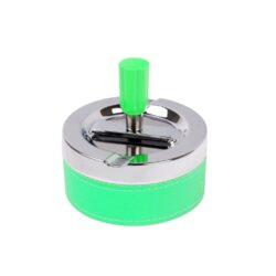 Cigaretový popelník otočný Neon zelený, kovový-PRODEJ TOHOTO ZBOŽÍ BYL UKONČEN. PROSÍM, VYBERTE SI PODOBNÝ PRODUKT Z NABÍDKY ALTERNATIVNÍHO ZBOŽÍ. Cigaretový popelník otočný Neon. Samozhášecí popelník na cigarety je kovový, průměr 9,5cm.
