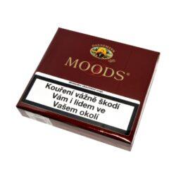 Doutníky Dannemann Moods, 20ks-Doutníky Dannemann Moods. Cigarillos jsou balené po 20 doutníčkách v papírové krabičce. Délka 70mm, průměr 8mm. Balení: 5 ks krabiček.