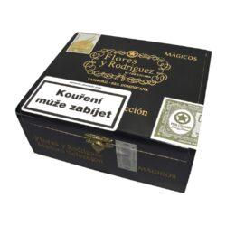 Doutníky Flores y Rodriguez Magicos Maduro, 24ks-Doutníky Flores y Rodriguez Magicos Maduro. Doutníky z Dominikánské republiky jsou balené v dřevěné krabici po 24 ks. Délka 127mm, průměr 20,6mm. Odběr po celém balení.