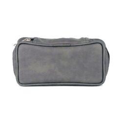 Pouzdro na 2 dýmky Etue, šedé, koženka-Etue - pouzdro na 2 dýmky se zipem a vnitřní kapsou na tabák. Koženkové pouzdro na dýmky je v šedém provedení.