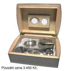 Doutníkový Humidor Set Angelo Carbon(569171)